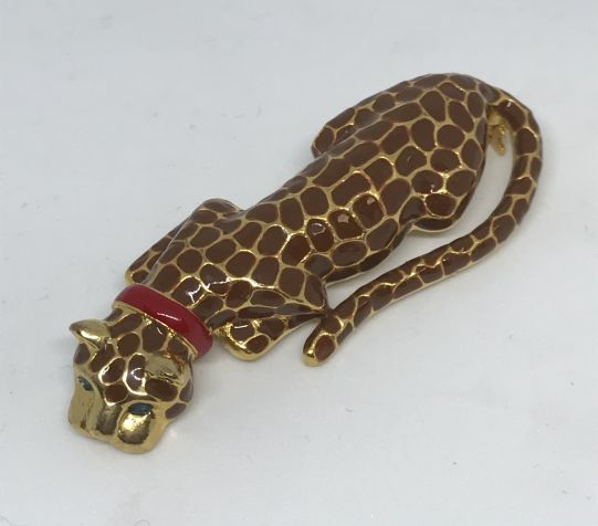 Брошка леопард