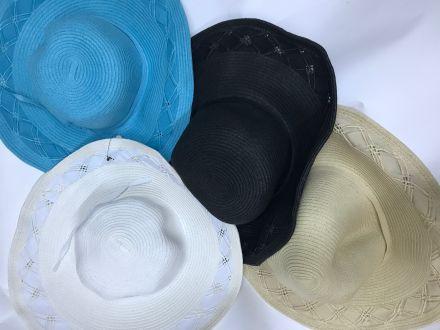 дамска шапка с лента тюркоаз - промоция 10 лв/бр