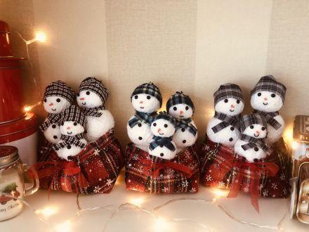 Коледна украса със снежни човечета