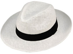 мъжка шапка голяма периферия с черна панделка